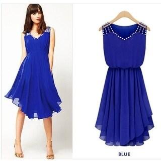 Slim Temperament Diamond Straps Summer Dress