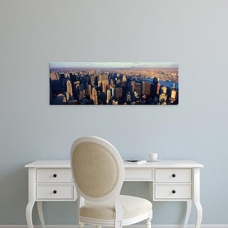 Easy Art Prints Panoramic Image 'Manhattan, New York City skyline, Hudson River, Weehawken, NJ' Canvas Art