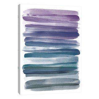 """PTM Images 9-109084  PTM Canvas Collection 10"""" x 8"""" - """"Watercolor Stripes B"""" Giclee Abstract Art Print on Canvas"""