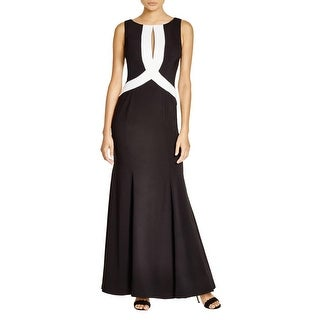 JS Collections Womens Evening Dress Cutout Embellished