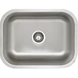 "Blanco 441398  Stellar 23"" Single Basin Undermount Stainless Steel Kitchen Sink - Refined Brushed"