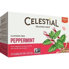 Celestial Seasonings Caffeine Free Peppermint Natural Herbal Tea 20 ea