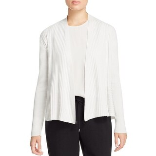 Eileen Fisher Womens Cardigan Sweater Ribbed Knit Asymmetric