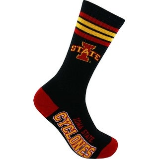 Iowa State Cyclones Deuce Black Crew Socks
