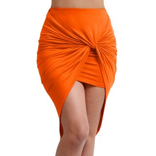 NE PEOPLE Women's bodycon shirred side skirt [NEWSK23] (3 options available)