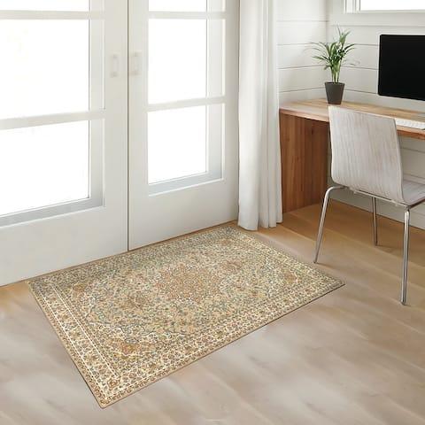 My Magic Carpet Machine Washable Rug Kenya Beige