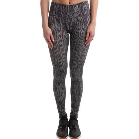 Reebok Womens Modular Athletic Leggings Yoga Fitness