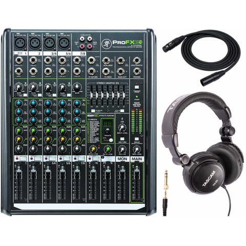 Mackie ProFX8v2 8-Ch Professional Effects Mixer with Headphone & Cable