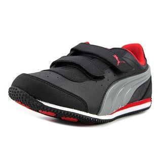 Puma Speed Light Up V Kids Youth   Synthetic Black Fashion Sneakers