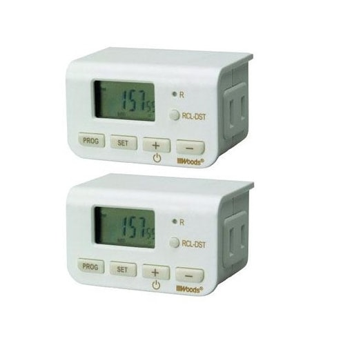 Southwire 50007Wd Ww Indoor 24Hr Digit Timer (2Pk) - White