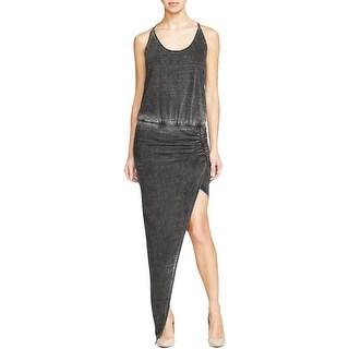 Pam & Gela Womens Tank Dress Asymmetrical Wrap