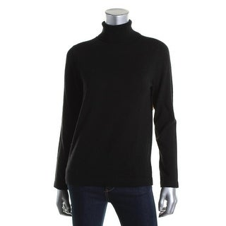 Anne Klein Womens Wool/Cashmere Blend Long Sleeves Turtleneck Sweater - S