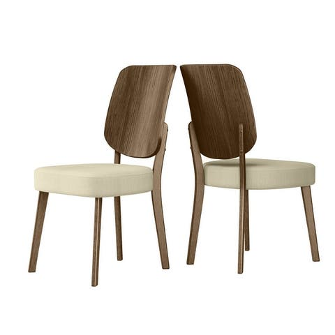 Carson Carrington Breuer Mid Century Modern Wood Back Armless Side Chairs (Set of 2)