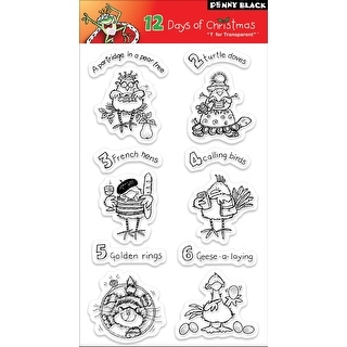 "Penny Black Clear Stamps 5""X7""-12 Days Of Christmas"