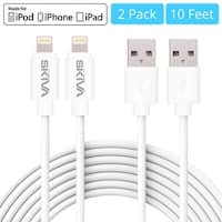 [2-Pack] Skiva USBLink Extra Long (10 feet / 3m) 8-pin Lightning Sync and Charge Apple MFi Certified Cable for iPhone X 8 7 Plus