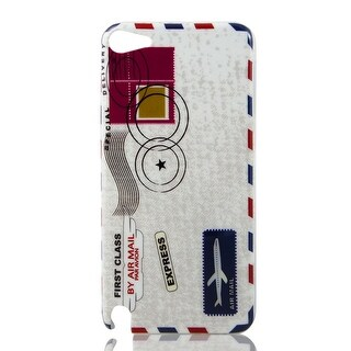 Airmail Envelope Express Print IMD Hard Back Skin Case Cover for iPod Touch 5 5G