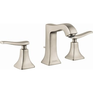 Hansgrohe 31073  Metris C 1.2 GPM Widespread Bathroom Faucet with EcoRight, Quick Clean, and ComfortZone Technologies - Drain
