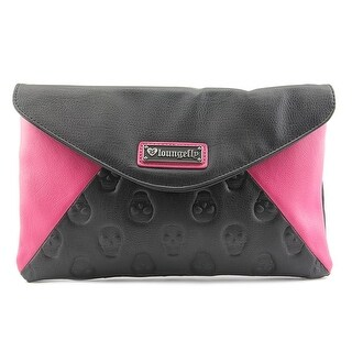 Loungefly Skull Envelope Clutch    Synthetic  Clutch - Black