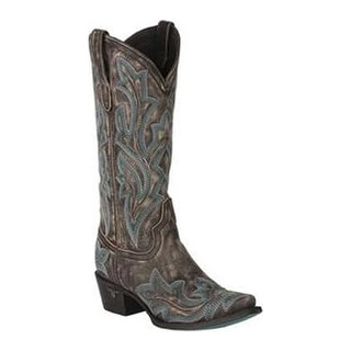 Lane Boots Women's Saratoga Cowgirl Boot Brown Full Grain Leather