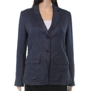 Weekend Max Mara NEW Blue Denim Women's Size 4 Trafoi Linen Blazer