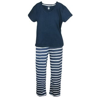 tru fit Women's Short Sleeve Tee and Pant Pajama Set