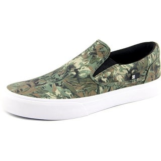 DC Shoes Trase Slip-On Men Round Toe Canvas Green Skate Shoe
