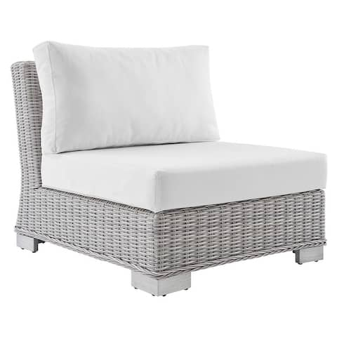 Conway Outdoor Patio Wicker Rattan Armless Chair