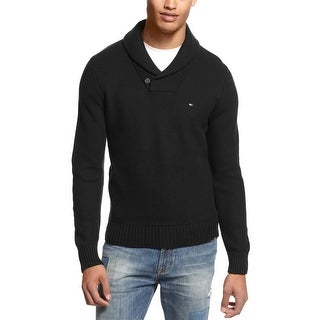 Tommy Hilfiger Portland Shawl Collar Knit Sweater Black X-Large