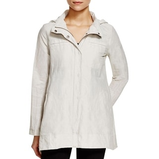Eileen Fisher Womens Petites Basic Jacket Textured Hooded - ps