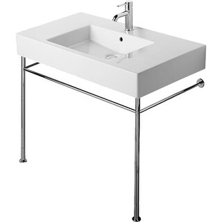 Duravit 30731000 Vero Metal Console with Adjustable Height - CHROME
