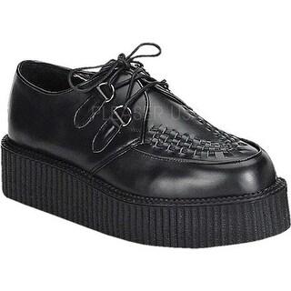 Demonia Men's Creeper 402 Black Leather