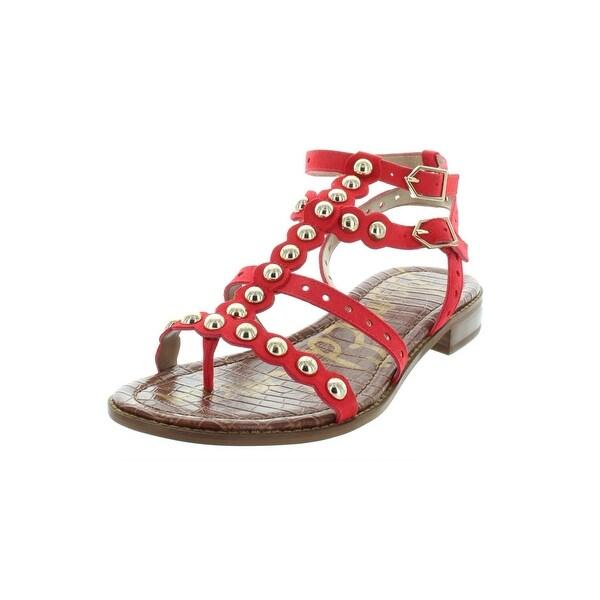 0ea9b9992 Sam Edelman Womens Elisa Gladiator Sandals Leather Gold Beads - 8.5 Medium  (B