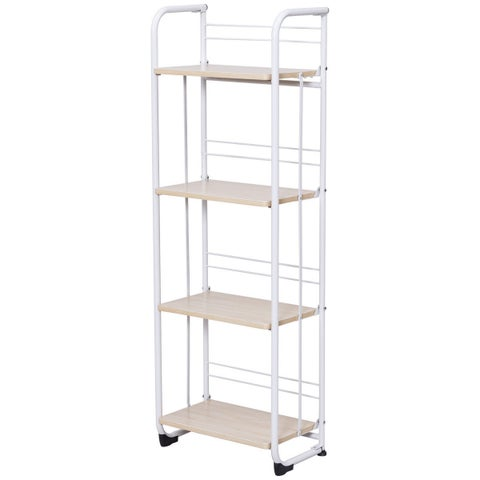 Gymax Folding 4 Tier Shelves Organization Storage Utility Shelving Unit Standing Rack - as pic