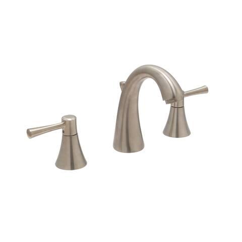 """Carmel 8"""" Widespread Bathroom Faucet, Satin Nickel Finish - 8"""" widespread"""