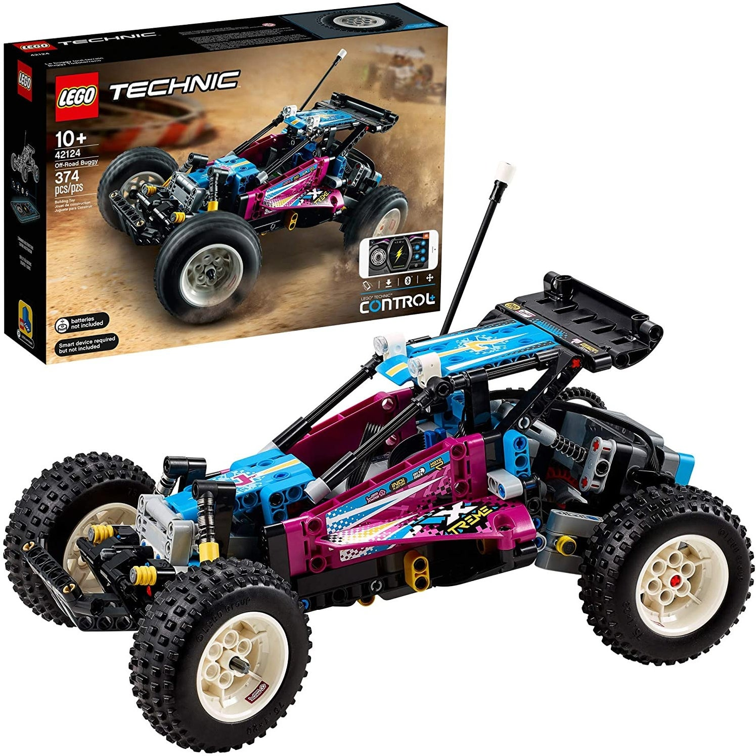 Lego 42124 Technic Off-Road Buggy Model Building Kit, 374 Pieces