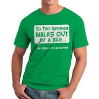 Humor So An Irishman Men's Kelly Green T-shirt