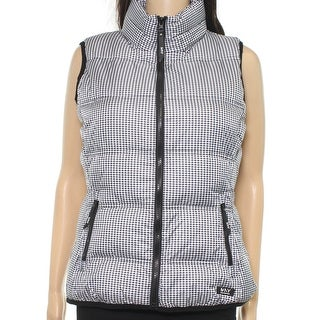 Marc New York NEW Black Women's Size XL Houndstooth Athletic Vest