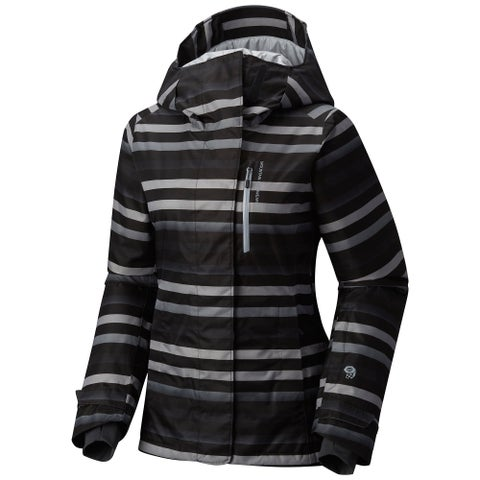 Mountain Hardwear Black Women's Size Small S Striped Jacket