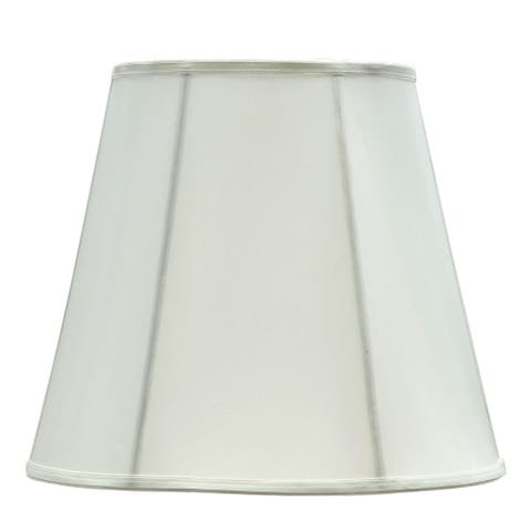 "Aspen Creative Hexagon Bell Shape Spider Construction Lamp Shade in Off White (10"" x 16"" x 14"")"