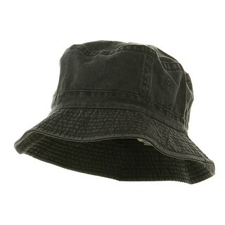 Pigment Dyed Bucket Hat-Charcoal