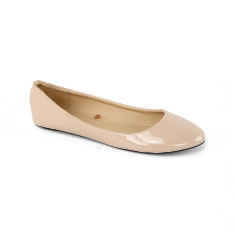Chatties Womens 5-11 Patent Ballet Flat