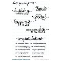 """Whatnot Sentiment 4 - Your Next Stamp Clear Stamps 4""""X4"""""""