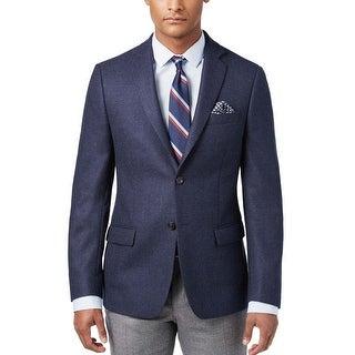Ralph Lauren Classic Fit Blue Textured 2-Button Sportcoat 48 Long 48L