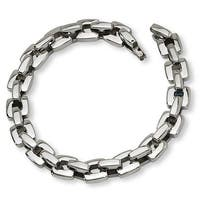 Chisel Polished Stainless Steel Bracelet - 9 Inches