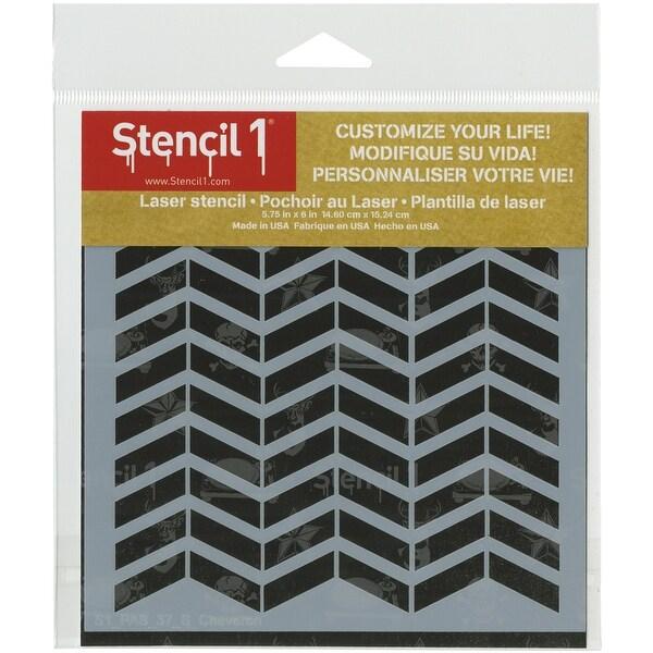 """Stencil1 6""""X6"""" Stencil-Chevron"""