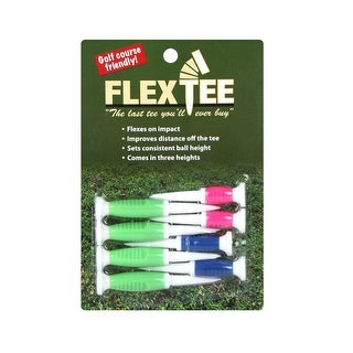 FlexTee Flexible Golf Tees (8 Pack), Florescent Green/Blue/Pink (product packaging may vary)