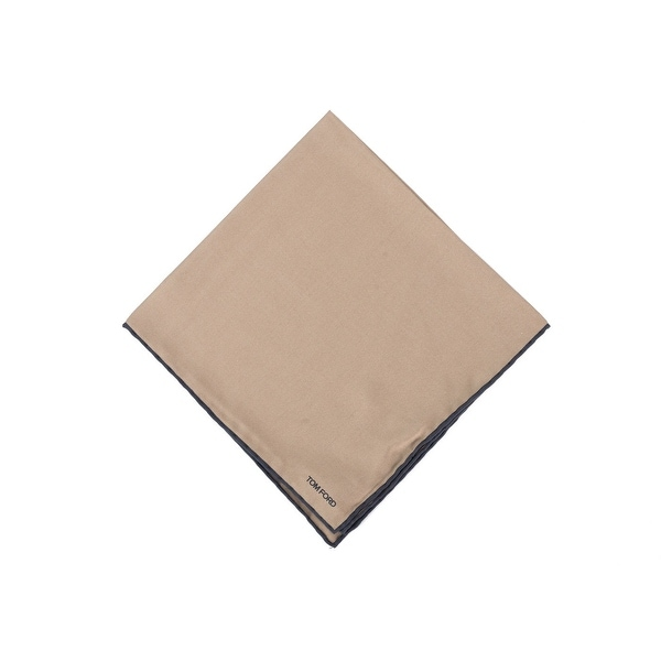 Tom Ford Men's Solid Light Brown Silk Pocket Square