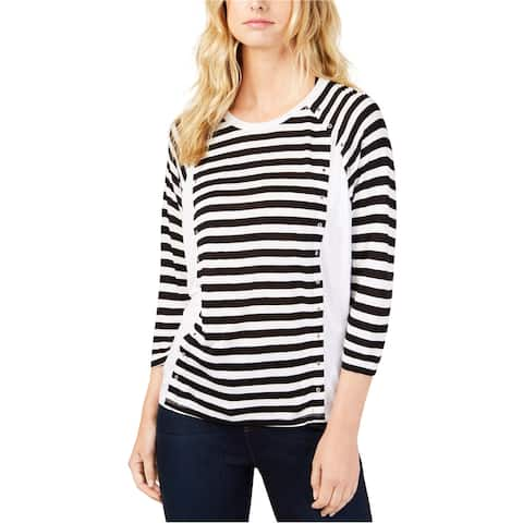 Michael Kors Womens Striped Pullover Blouse