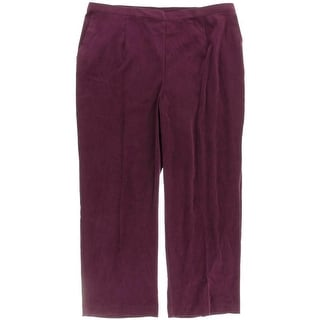 Alfred Dunner Womens Plus Twill Elastic Waistband Casual Pants