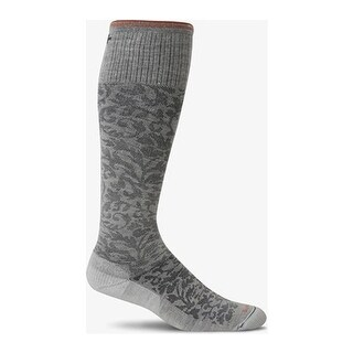 Sockwell Women's Damask Graduated Compression Sock Oyster